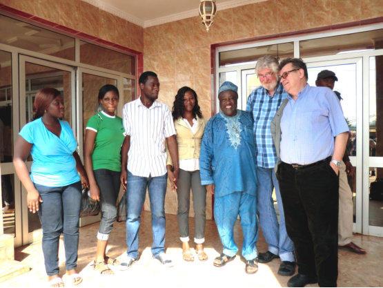 Begrüßung in Yaounde
